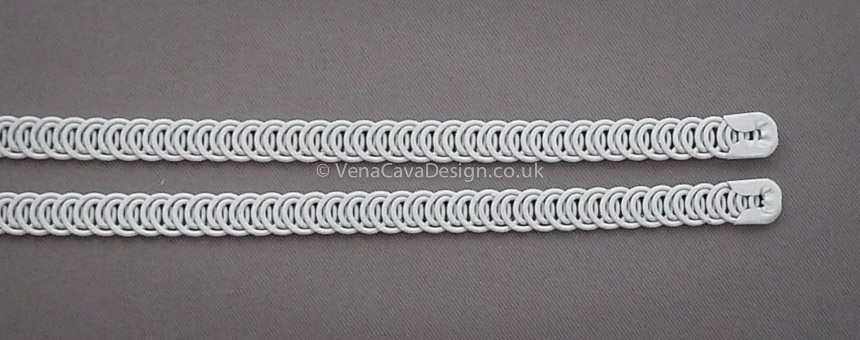White Enamelled Finished Spiral Wires 6mm wide